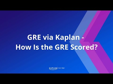 GRE via Kaplan - How is the GRE scored?