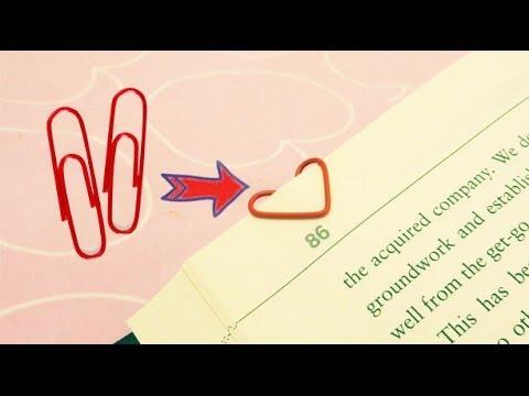 Heart Shaped Paper Clip Bookmark | Sunny DIY