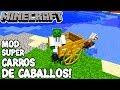 Minecraft 1.12.2 MOD SUPER CARROS DE CABALLOS! Horse Cart Mod Español!