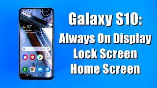 Galaxy S10 Settings Tutorial for Display, Navigation Bar