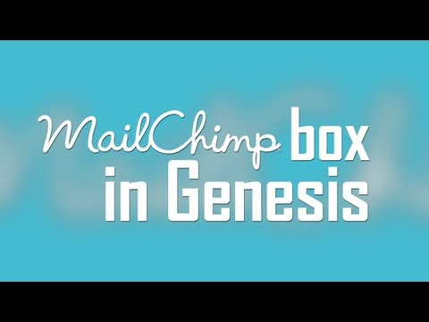 Show MailChimp box in Genesis with enews extended plugin