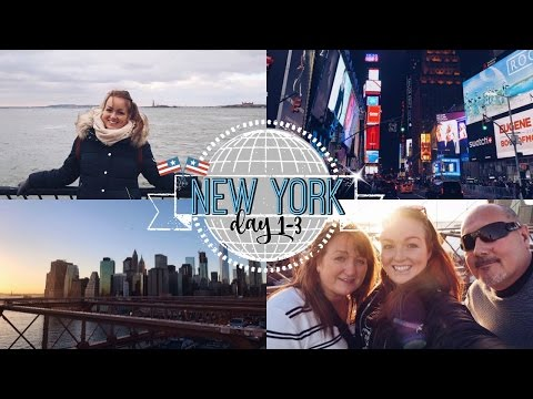 NEW YORK DAY 1-3 | TIMES SQ & BROOKLYN BRIDGE! ♡ | brogantatexo