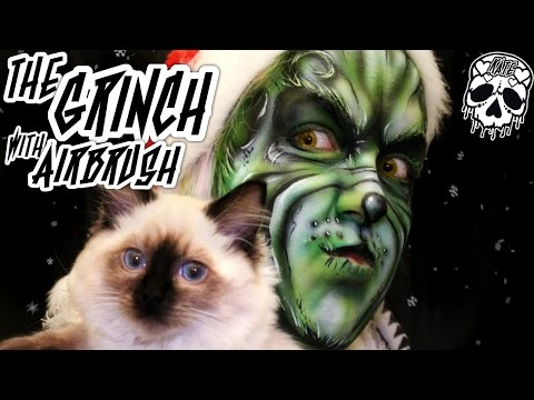 The Grinch w/ Airbrush Face Paint - MissKateMonroe.co.uk