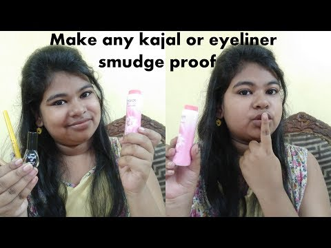 How to make any kajal or eyeliner smudge proof | Easily