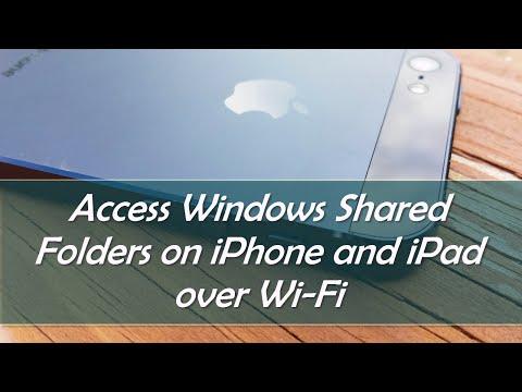 Access Shared Windows Files on iPhone and iPad via Wi-Fi