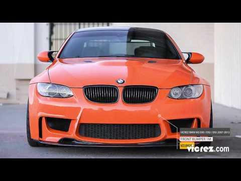 Vicrez BMW M3 E90 / E92 / E93 2007-2013 1M Style Polyurethane Front Bumper - vz100255