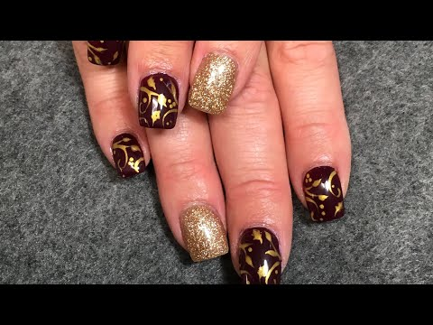 Thanksgiving Nail Art Fall Leaves With Adrienne