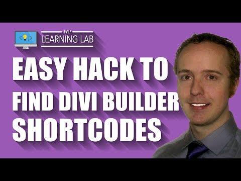 Divi Hack To Find Divi Builder Shortcodes