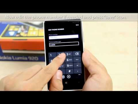 How to Add and delete a contact on Nokia Lumia 920