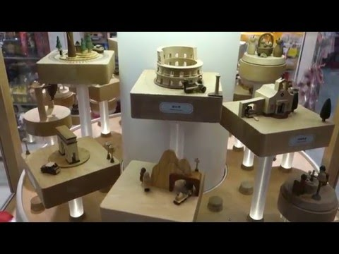 Magical Spinning Wooden Music Box Display as seen at Toy Store ... Beautiful!!!