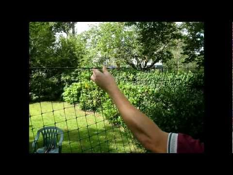 9.  Deer Fence Installation Videos: Hanging the Fencing