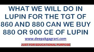 Buy Lupin From Cmp Means 900 Ce 880 Ce Can We Buy This Level And Wait  Just For Education