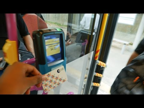 Learn How to Use EZ Link Card in Singapore Bus. Public Transportation in Singapore