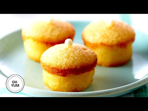 Mini Lemon Chiffon Cakes - OH YUM with Anna Olson