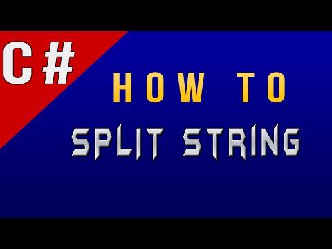 How to Split String in C#/CSharp