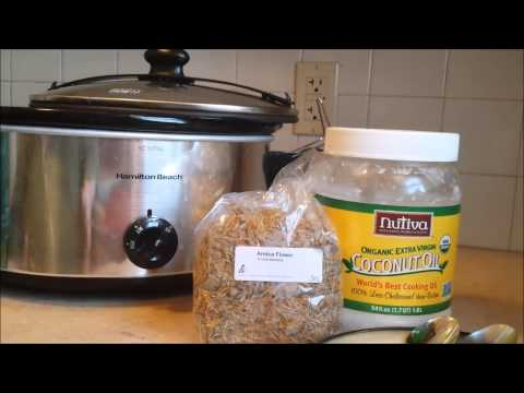 How To Make Arnica Infused Oil In A Crockpot (Part One)