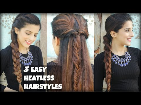 3 QUICK & EASY Everyday Braided Hairstyles For Medium To Long Hair | Heatless Hairstyles