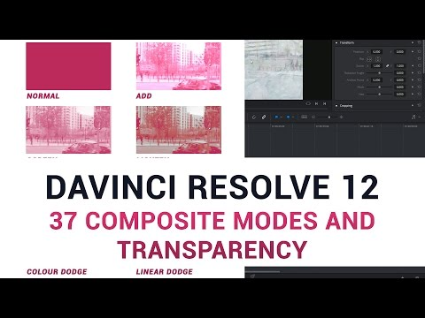 DaVinci Resolve 12 - 37 Composite Modes and Transparency