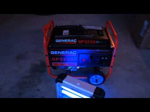 Generac GP3250 Portable Gas Generator Demo