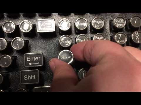 Steampunk Retro Mechanical Keyboard Unboxings
