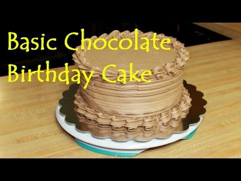 Simple Chocolate Birthday Cake - Frosting Tutorial