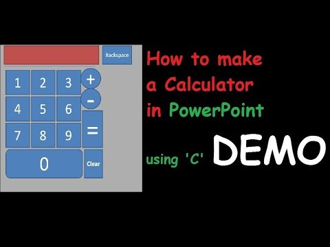 How to make a Calculator in PowerPoint ,C language