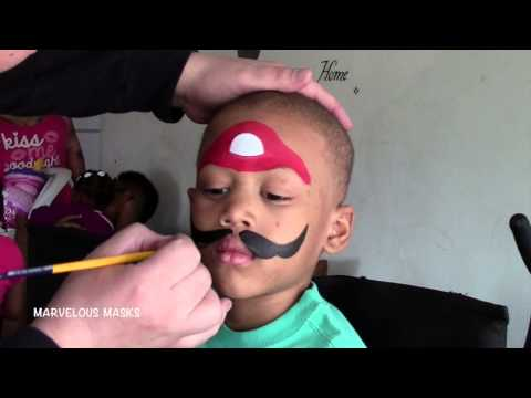Mario Face Painting | Marvelous Masks Chicago Face Painting