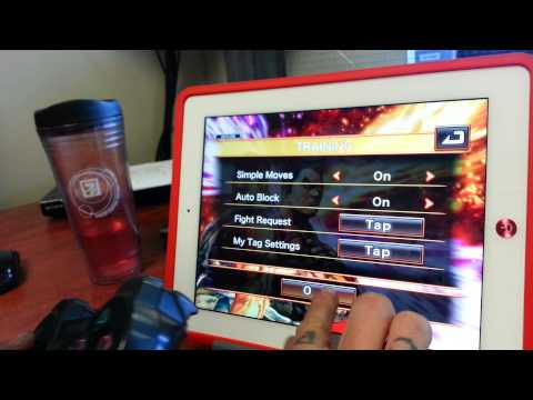 PS3 controller on iPad 4 playing Street Fighter X Tekken :)
