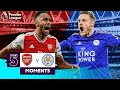 Arsenal Vs Leicester Top 5 Premier League Moments Aubameyang Vardy Bergkamp