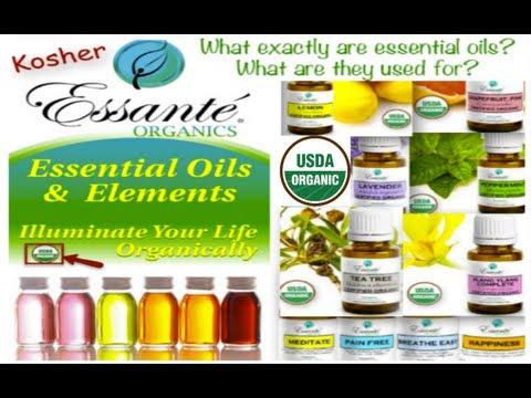 100% Pure Essential Oils, 100% USDA Organic Essential Oils from Essante Organics Kosher, Food Grade