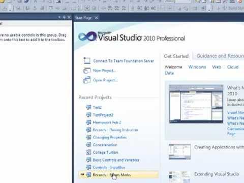 Introduction to Visual Studio 2010 Professional