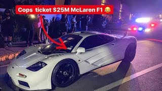 POLICE THREATEN TO TOW MCLAREN F1 & OWNER DOES BURNOUT INSTEAD!