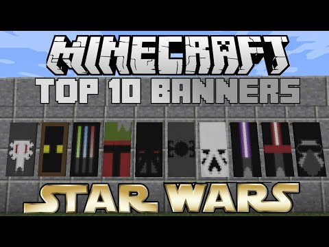 Minecraft top 10 Star Wars banners! With tutorial!
