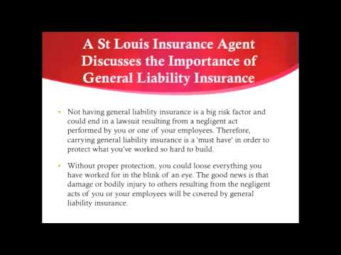 A St Louis Insurance Agent Discusses the Importance of General Liability Insurance