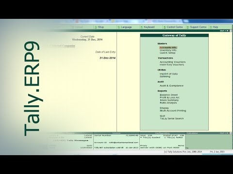 Tally ERP 9 | Profit & Loss Account transfer to Capital A/c