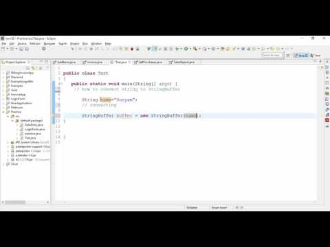 How to Convert String to StringBuffer in Java