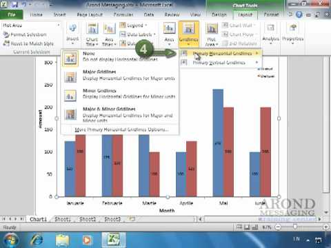 Using Excel 2010 - Display Chart Gridlines