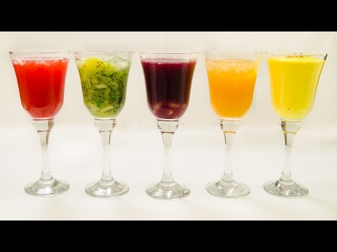 5 Drinks and Mocktails Recipe | Five Easy Refreshing Colorful Holi Recipes