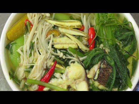 Mix Vegetable Soup Recipe Cambodian Style - How To Cook Khmer Food - Country Foods
