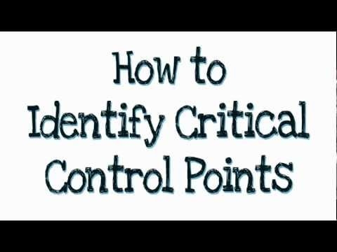 How to identify Critical Control Points (CCP's)