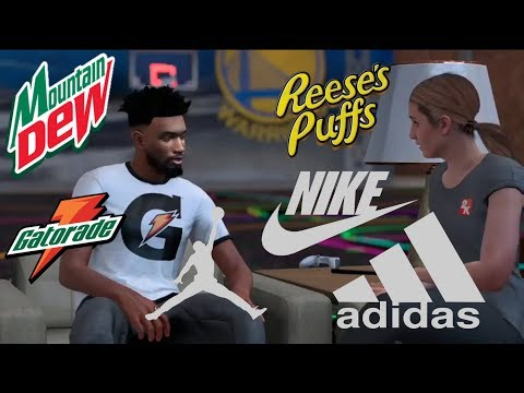 NBA 2K18| HOW TO GET MULTIPLE ENDORSEMENTS THROUGH MyCAREER (MOST VC)