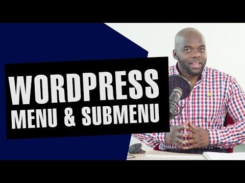 Wordpress menu and submenu