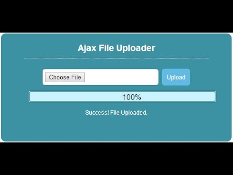 php javascript ajax dosya yükleme