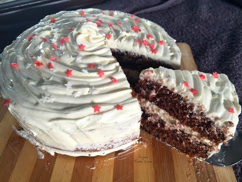 No Oven Brown Velvet Cake with Cream Cheese Frosting | ഓവനില്ലാതെ വെൽവറ്റ്  കേക്