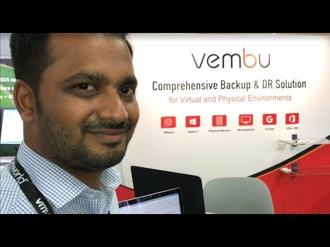 VMworld 2017 US - at Vembu, Product Manager Nagarajan Chandrasekaran demonstrates Vembu BDR Suite