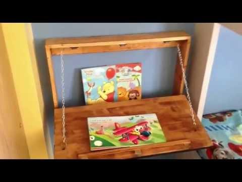 DIY Kids mounted floating desk