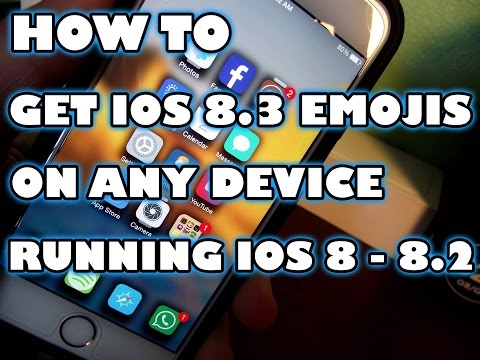 How To Get ios 8.3 Emojis on ios 8 - 8.2 (UPDATED)