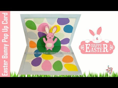 Easter Bunny Pop Up Card - Easy Paper 3D Card
