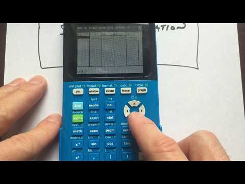 TI84 TI83 Calculating Standard Deviation
