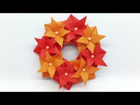 DIY Christmas Wreath for Room Decor - Christmas Paper Wreath
